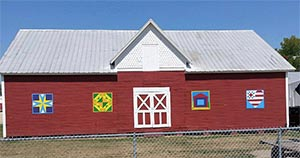 The Barn Quilt Designs at the Bureau County Fairgrounds in Princeton, IL