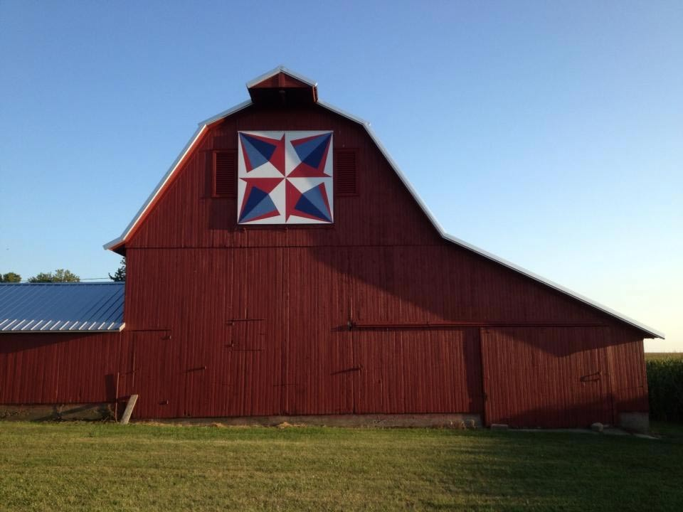 picture relating to Free Printable Barn Quilt Patterns called The Barn Quilts of Bureau County Take a look at Bureau County, Illinois