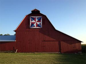 The Barn Quilts of Bureau County - This one at the farm of Clem and Judy Newton, near Bradford, IL